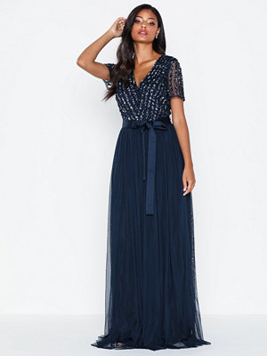 Festklänningar - Maya V Neck Sequin Maxi Dress