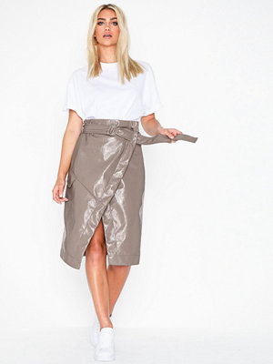 NLY Trend PU Wrap Skirt