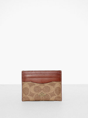 Coach Colorblock Coated Canvas Signature Flat Card Case