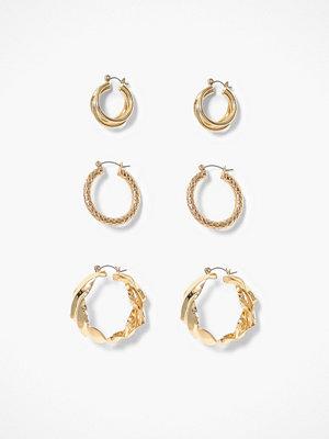 Pieces örhängen Pcmaila Hoop Earrings 3-Pack D2D Ke
