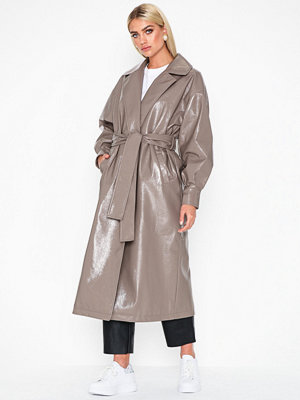 NLY Trend PU Wrap Coat