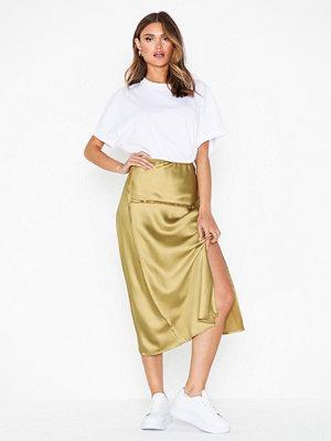 Topshop Raw Seam Bias Midi Skirt