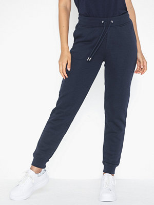 Gant marinblå byxor Tonal Shield Sweat Pants