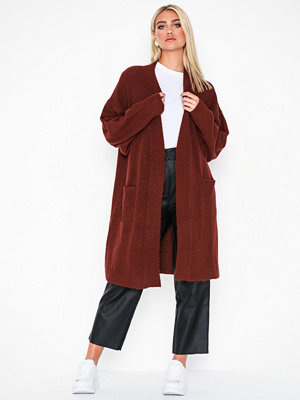 NLY Trend Cozy Cardigan Knit Wine