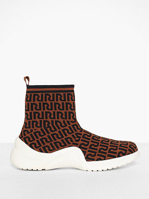 River Island Monogram Pull on Sock Runner