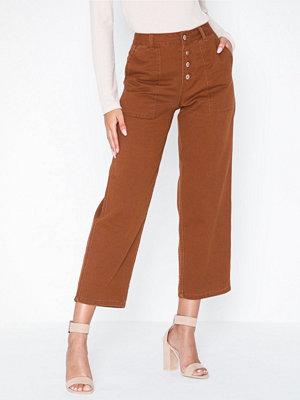 Only bruna byxor Onlevelyn Hw Wide Colour Dnm Jeans