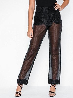 NLY Trend svarta byxor Transparent Pants