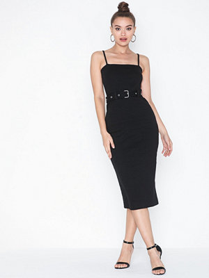 Missguided Ribbed Cami Belted Midi Dress