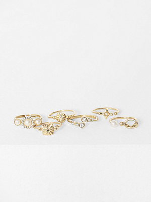 Only Onlsassy Fingerring 6 Pack