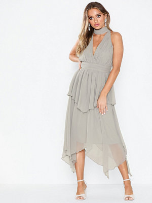 U Collection Midi Wrap Dress