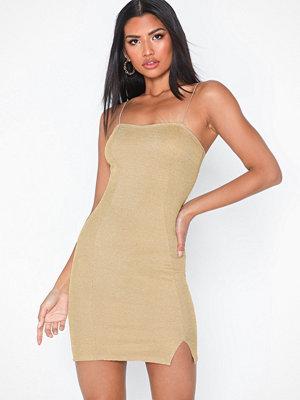 NLY One Glitter Slit Dress