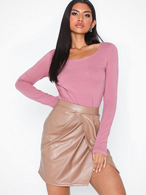 Vero Moda Vmmaxi My Ls Soft Long U-Neck Ga No Ljus Rosa