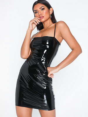 NLY One Vinyl Straight Neck Dress