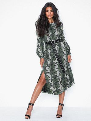 Glamorous Long Sleeve Snakeskin Dress