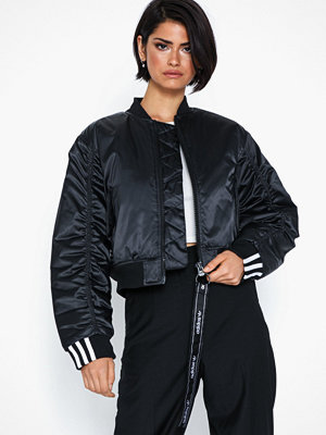 Adidas Originals svart bomberjacka Cropped Bomber
