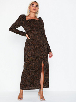Missguided Leopard Print Square Neck Dress