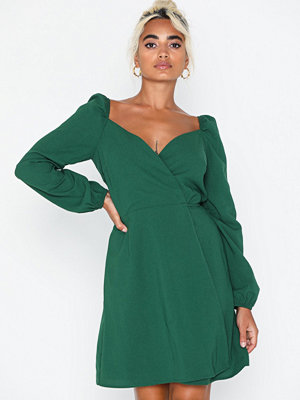 Glamorous Long Sleeve Crossover Dress