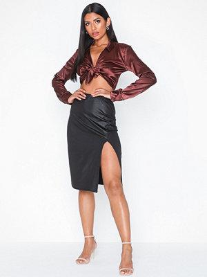 NLY One Coated Slit Skirt