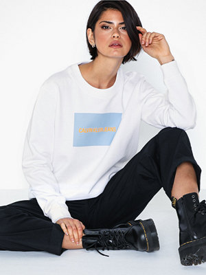 Tröjor - Calvin Klein Jeans Institutional Box Logo Crew Neck