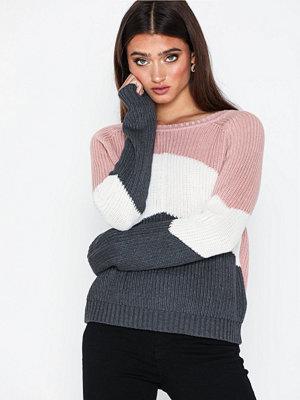Tröjor - Object Collectors Item Objgraph L/S Knit Pullover I.Rep Ljus Rosa