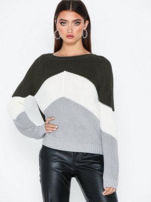 Tröjor - Object Collectors Item Objgraph L/S Knit Pullover I.Rep Mörk Grön
