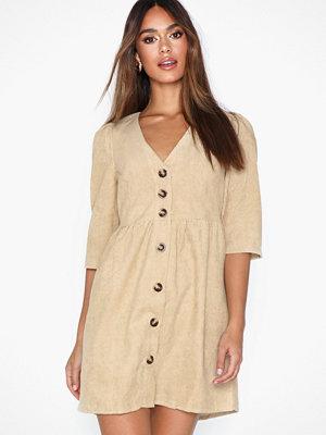 Glamorous Buttoned V Neck Dress