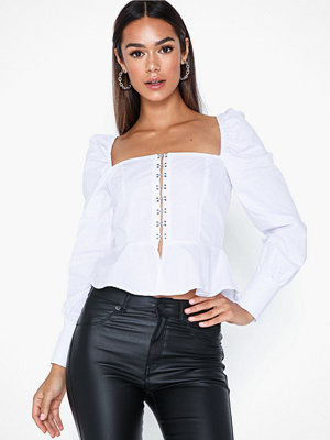 Missguided Poplin Square Neck Top