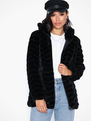 Fuskpälsjackor - Jacqueline de Yong Jdyevan Long Fake Fur Hood Jacket O