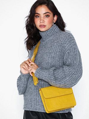 hvisk gul axelväska Cayman Shiny Strap Bag