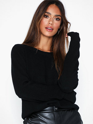 Tröjor - Vila Viril L/S O-Neck Knit Top-Noos