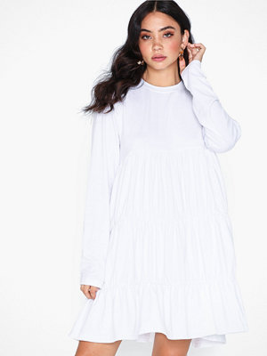 Missguided Jersey Long Sleeve Smock Dress