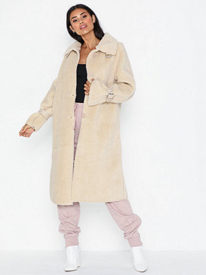 Fuskpälsjackor - Missguided Long Line Borg Coat