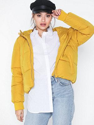 Dunjackor - Jacqueline de Yong Jdyerica Short Padded Hood Jacket O Harvest Gold