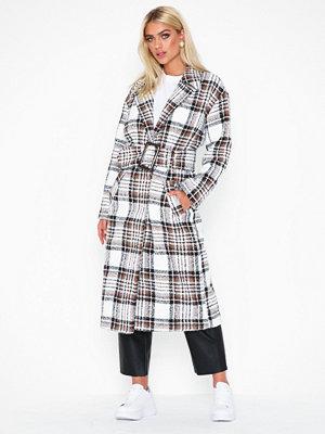 NLY Trend Long Belted Coat Rutig