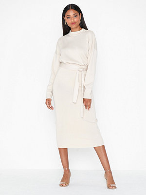 Missguided Knitted Tie Waist Midi Skirt
