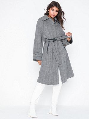Vila Viselda Wool Long Coat