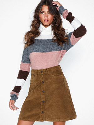 Kjolar - Noisy May Nmsunny Short Clr Wide Cord Skirt X