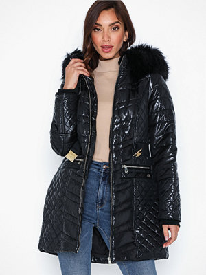 River Island Longline High Shine Belted Coat