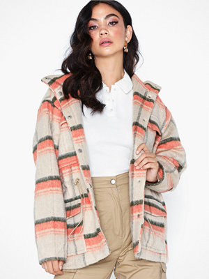 Missguided Check Utility Coat
