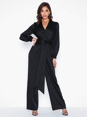 Jumpsuits & playsuits - Closet Belted Long Sleeve Jumpsuit
