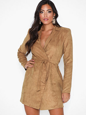 NLY One Faux Suede Blazer Dress