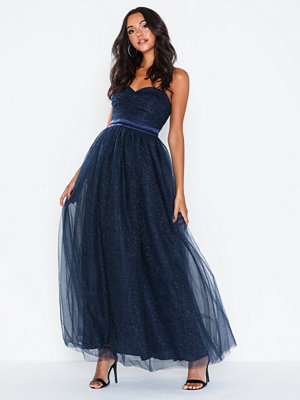 Dolly & Delicious Glitter Mesh Bandeau Maxi Dress