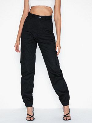 Missguided svarta byxor Plain Cargo Trouser