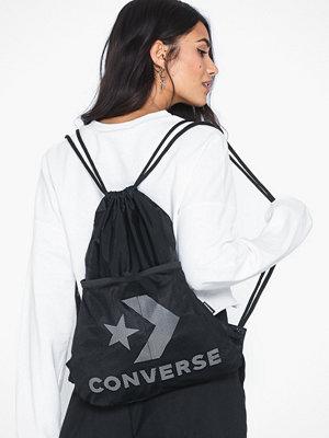 Converse svart ryggsäck med tryck Cinch