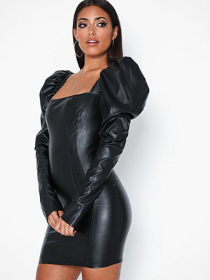 NLY One Leather Look Puff Dress