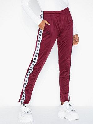Kappa vinröda byxor med tryck Pants, Astoria Snap Banda