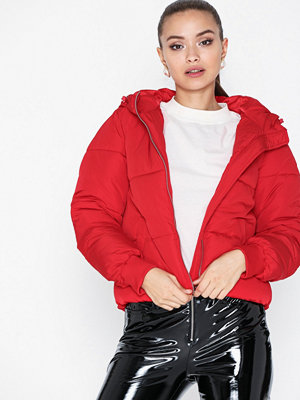 Dunjackor - Jacqueline de Yong Jdyerica Short Padded Hood Jacket O Röd