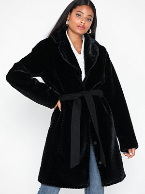 Dry Lake Zig Zag Fur Coat