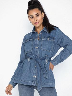 Selected Femme Slfdana Ls Mid Blue Denim Jacket Ex
