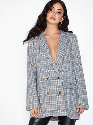 Missguided Co Ord Checked Oversized Blazer